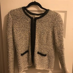 Joie Tweed jacket with Leather detail
